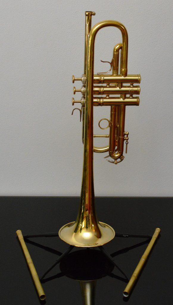 F. Besson Meha Kanstul C trumpet (Paris) with two (2) Najoom lead pipes